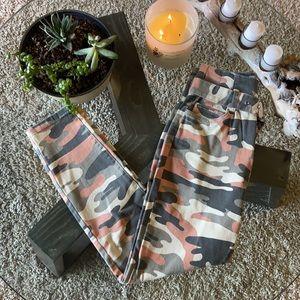 Bershka Pink/Grey Cameo Skinny Jeans